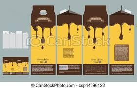 Milky Chocolate Box Branding Package Design Template