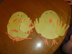 easy easter crafts for two year olds. our easter chicks with handprint feathers...one made by my two year old easy crafts for olds r