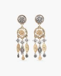 vintage mixed metal chandelier earrings