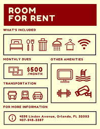 for rent sign template room for rent flyer templates by canva
