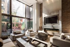 townhouse contemporary furniture. Contemporary Fireplace, Patio Doors, Converted Townhouse, In Greenwich Village New York City Townhouse Furniture F