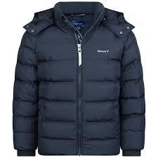 Kids Designer Coats Gant Boys Navy Puffer Jacket