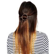 1pc Epingle à Cheveux Femme Fille Barrette Pince Bijoux Coiffure Soirée Mariage Simple Or