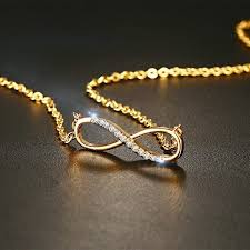 details about cz infinity pendant necklaces gold charm fashion xmas gifts for her wife women