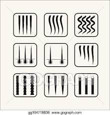 Vector Clipart Hair Texture Chart Vector Illustration