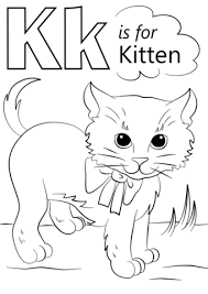Small Picture Letter K is for Kitten coloring page Free Printable Coloring Pages