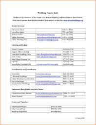 4 Wedding Vendors List Wedding Spreadsheet