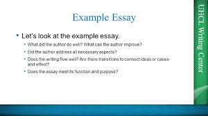 what is the purpose of a cause and effect essay uhcl writing  uhcl writing center tep essays presented by the uhcl writing uhcl writing center example essay let causal analysis cause effect