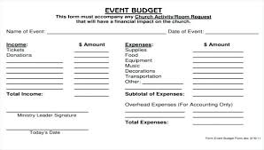 Event Budget Sample Free Event Budget Templates Resume Design For Word Church Template