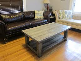 Rustic Wood Coffee Table For Living Room Living Room Table Accesories