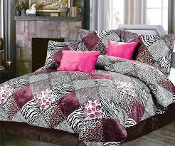 shining inspiration pink zebra print comforter sets queen leopard set animal on full best bed