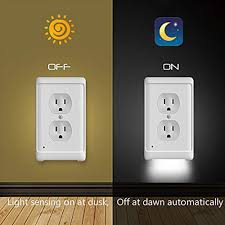Outlet Night Light 5x Outlet Wall Plate Led Night Lights Cover Duplex With