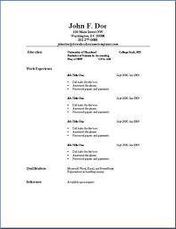 Simple Professional Resume Template Resume Sample