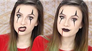 creepy clown makeup tutorial easy