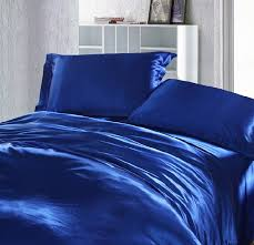 royal blue duvet covers bedding set silk satin royal blue duvet cover