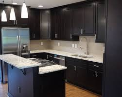 Kitchen Design Ideas Dark Cabinets With Goodly The Designs Small