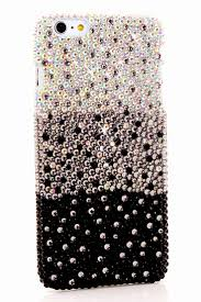 Cute Girly Bling iPhone 6 6s Fade to Black design case protective phone  cover pearl