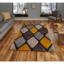 noble house nh9247 grey yellow rug by think rugs