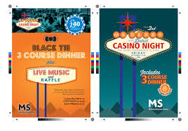 derby district ms society promotional flyers derby print casino fundraising event flyers