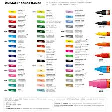 Molotow One4all Color Chart One4all Refills Molotow Markers Stencil Graffiti