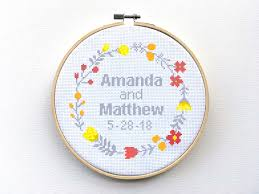 Wedding Cross Stitch Patterns Impressive Wedding Cross Stitch Pattern Custom Marriage Cross Stitch