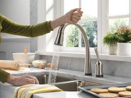 Moen Touchless Kitchen Faucet Kitchen Faucets Home Depot Canada Lawnfieldtm Selfrimming Offset
