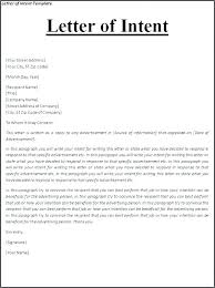 Examples Of Letter Of Intent Business Letter Of Intent Template Sociallawbook Co