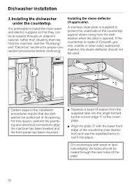 miele dishwasher installation. Plain Dishwasher Installing The Dishwasher Under Countertop 52 Steam  Deflector Countertop  Miele G 879 SCVI  And Dishwasher Installation