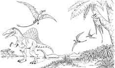 9 Gambar Spinosaurus Coloring Pages Dino Themes Terbaik