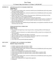 Housing Inspector Resume Samples Velvet Jobs