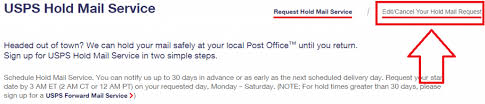 Cancel Change Usps Hold Mail Request Online Also Without