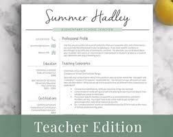 Teacher Resume Template for Word and Pages | 1-3 Page Educator Resume |  Creative