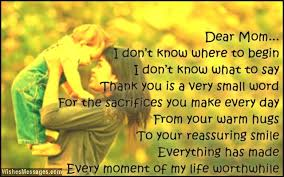Thank You Mom Quotes Amazing Thank You Mom Messages And Quotes WishesMessages