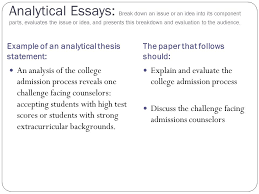 Example Of Thesis Essays Example Thesis Statement For Analytical Essay Creative