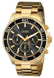 guess men s chronograph watch w12632g1 black dial you can guess men s u0170g2 sporty black dial gold tone chronograph watch jewelry for her