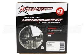 rigid industries trucklite series round headlight 7in jeep rigid industries truck lite series round headlight 7in part number 55002