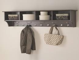 48 Coat Rack 100 Cubby Wall Shelf Pine Wood 1008 wide Wall Shelf Coat Wall Mounted 67