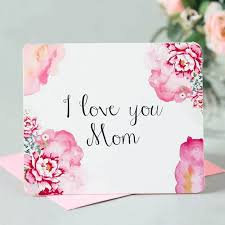 Print A Mother S Day Card Online Online Shop New Arrival Letters Printing Mothers Day Postcards Love