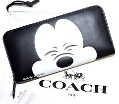 COACH X Disney Mickey Mouse LIMITED EDITION Collectors Black Leather Wallet  NWT  Coach  ZipAroundClutch