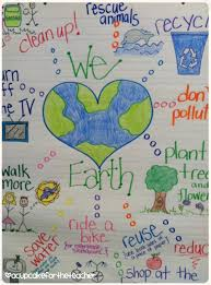 Earth Day Anchor Chart A Cupcake For The Teacher Love Our Earth Freebie 2