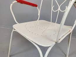 vintage metal garden chairs set of 4