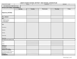 Lcsd High School Lesson Plan Template Syllabus Pinterest Musical