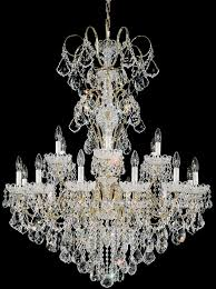 new orleans 18 light 110v chandelier in antique silver with clear heritage crystal