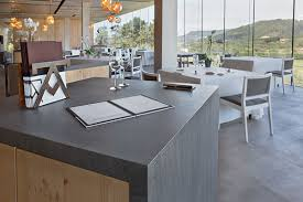basalt grey neolith with mitered edges and end panel