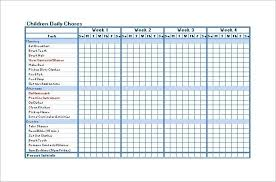 Make A Chore Chart Template Chore Chart Template 6 Free Pdf Word Documents Download
