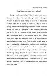 english teaching worksheets energy english worksheets energy saving essay