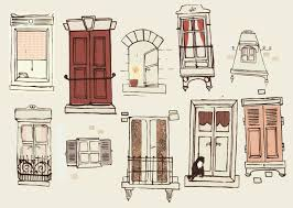 vintage window drawing. french windows from bristol illustrator clare owen vintage window drawing o