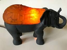 amber tortoise shell art glass elephant nightlight table lamp light cheyenne