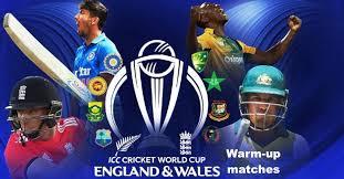 Icc Cricket World Cup 2019 Warm Up Matches Schedule