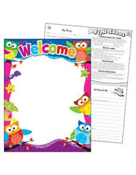 Welcome Chart Images Welcome Owl Stars Chart